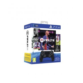 PS4 DualShock kontroler black + FIFA 21 voucher