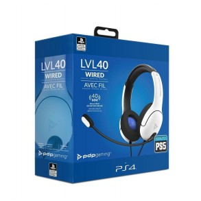 PDP PS4/PS5 STEREO slušalke LVL40 bele barve