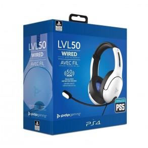 PDP PS4/PS5 STEREO slušalke LVL50 bele barve