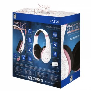 4GAMERS PS4 STEREO GAMING HEADSET ROSE GOLD EDITION - ABSTRACT WHITE (PS4)