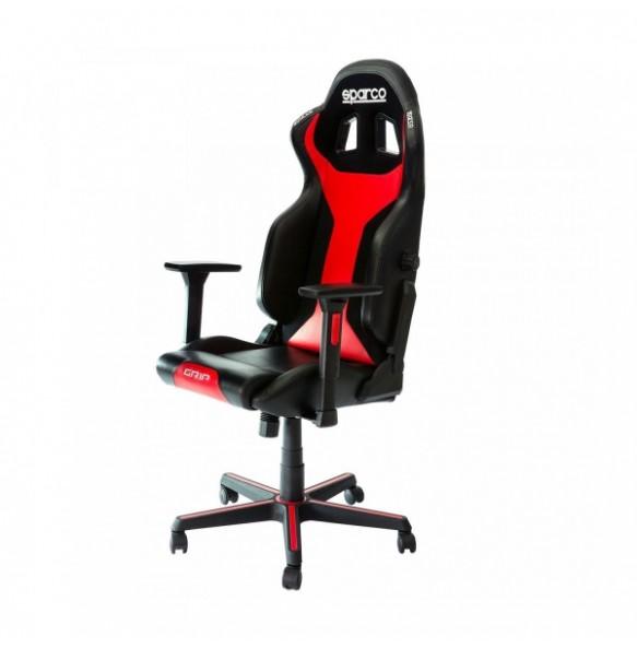 SPARCO GRIP SKY gaming stol črno - rdeče barve