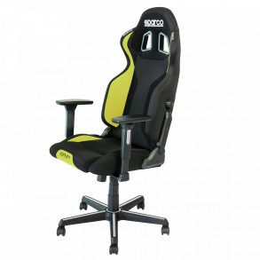 SPARCO GRIP gaming stol črno - rumene barve