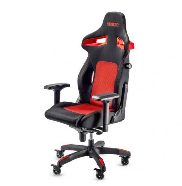 SPARCO STINT gaming stol črno - rdeče barve