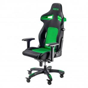 SPARCO STINT gaming stol črno - zelene barve