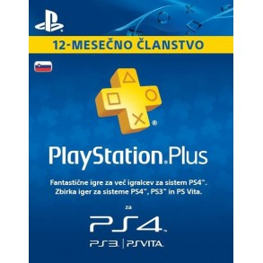 PSN 365 DNI KARTICA SLO EU Playstation Plus -365 Day Subscription Card /PS3-PS4 365dni  SLO EU KODA