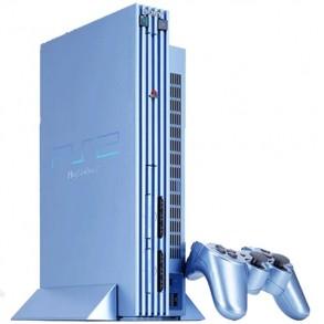 Playstation 2 Aqua Blue