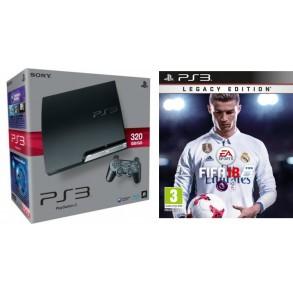 PS3 SLIM 320GB +FIFA 18 +2x plošček+12 MESEČNA GARANCIJA