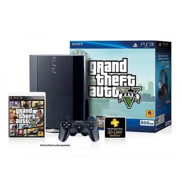 PS3 500GB SUPERSLIM+GTA5 GRAND THEFT AUTO 5