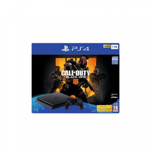 PS4 SLIM 500GB + CALL OF DUTY BLACK OPS 4+36 MESEČNA GARANCIJA