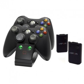 Dual Charge Dock With 2 Batteries [Black] (ORB) /X360