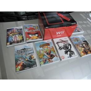 Nintendo WII mini RED kot nov+oprema+igre 7x igre+6m garancije