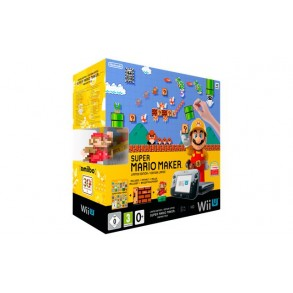 Nintendo Wii U Premium 32GB črn + Super Mario Maker + Amiibo