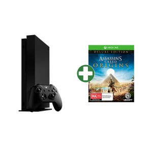 MICROSOFT XBOX ONE X 1 TB +190 IGER 24 MESEČNA GARANCIJA+ASSASSIN'S CREED ORIGINS