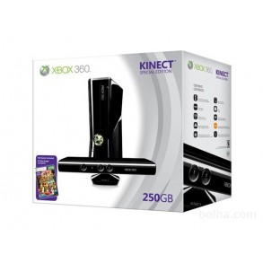 Xbox 360 Slim 250GB original +KINECT kamera+2x ploščka+20x igre XBOX 360